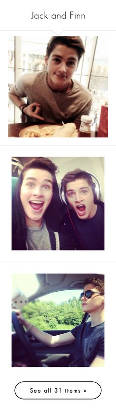 """""""Jack and Finn"""" by kain-loves-shawn on Polyvore featuring youtubers, jack and finn, people, boys, guys, instagram, celebrities, pictures, celebs and jack & finn"""