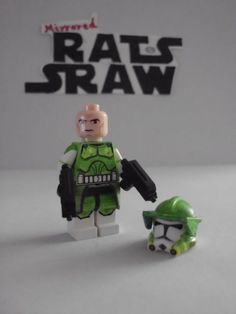 Lego Star Wars minifigures - Clone Custom Green Commander (Tup clip Series 6 2 min teaser)