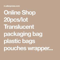 Online Shop 20pcs/lot Translucent packaging bag plastic bags pouches wrappers cupcake 8.5x23cm | Aliexpress Mobile