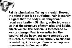 Beyond the mind, there is no suffering.