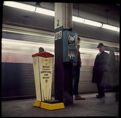 Danny Lyon's Unseen Photos Of NYC Subway Riders In The '60s | Co.Design | DeKalb Ave station, 12/31/66