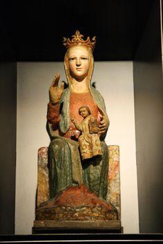 Virgen románica de Barañaín, siglo XIII, catedral de Navarra