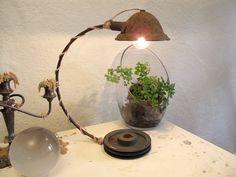 Reclaimed industrial table lamp. $120.00, via Etsy.