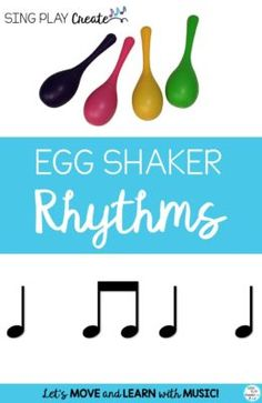 Get this free egg shaker activity booklet to use when spring comes around and the flowers and wiggles blooming! And that makes it the perfect time to get out the Egg shakers! Egg shaker activities are Movement Activities, Music Activities, Egg Shakers, Color Songs, Rhythm Games, Music And Movement, Piano Teaching, Elementary Music, Music Classroom