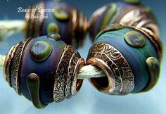 Handmade Glass Bead Set Lampwork 4 Earthy Tie by BeadsofPassion