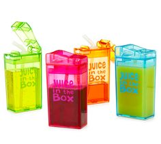 Sustainable Juice Boxes - Reusable and spill-proof? YES.