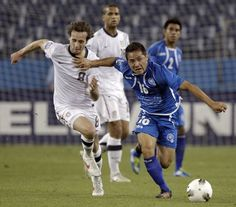 Soccer alum Richard Menjivar competing for El Salvador's U23 team.