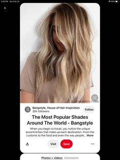 Shadow Root Blonde, Hair Inspiration, In The Heights, Hair Color, Around The Worlds, Popular, Long Hair Styles, How To Make, Hairstyles
