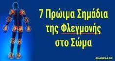 7 Πρώιμα Σημάδια της Φλεγμονής στο Σώμα και Πώς θα την Προλάβετε! Herbal Remedies, Herbalism, Medicine, Health Fitness, Tips, Gym, Cold Sore, Herbal Medicine, Excercise