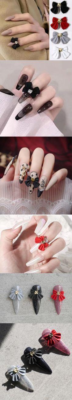 Bowtie Nail Charm Metallic Large size nail decals/ Nail polish UV gel supply Instagram Pinterest Nail Inspiration Bow Tie Nails, Nail Charms, Nail Supply, Nail Decals, Uv Gel, Nails Inspiration, Nail Polish, Earrings, Metallic