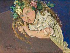 """Stanislaw Wyspianski - """"Portrait of Miss Sternbach"""" 1904"""