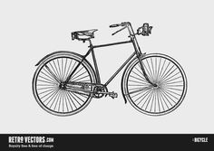 Free Bicycle Vector (.eps).  #freebies #bikes