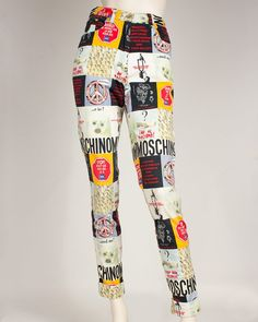 Vintage Moschino Seal Print Jeans