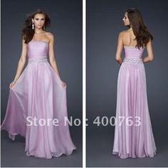 Effortless A line Beaded Bodice Chiffon Long Strapless Lilac Prom Dresses-in Prom Dresses from Apparel  Accessories on Aliexpress.com $105.00