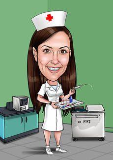 Медсестра картинки шарж
