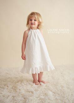 Toddler Girl White Country Flower Girl Dress, Flowergirl Dress, Country Wedding, Linen Portrait Dress