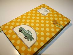Notebook cover with car