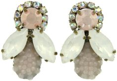 Doloris Petunia Honey Bee Earrings - Pale Pink at I Love Designer London
