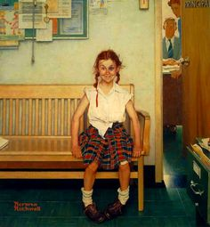 "NORMAN ROCKWELL: ""Girl with a black eye"" (1953)"