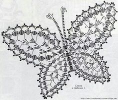 Between a wire and Other: Butterfly Crochet Freeform Crochet, Crochet Diagram, Crochet Chart, Thread Crochet, Irish Crochet, Crochet Motif, Crochet Doilies, Crochet Flowers, Crochet Lace