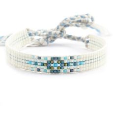 Chan Luu's official store offers unique & wearable designs inspired by her travels. Bead Loom Designs, Bead Loom Patterns, Bracelet Patterns, Bead Loom Bracelets, Beaded Wrap Bracelets, Handmade Bracelets, Pandora Bracelets, Handmade Jewelry, Seed Bead Jewelry