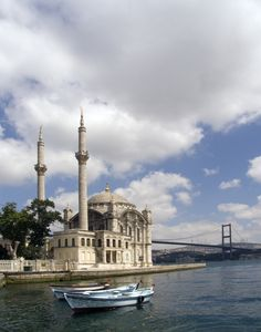 Dolmabahce Palace and the Bosphorus. Istanbul has a lot to offer to visiting travelers.