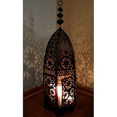 @Overstock - Moroccan lanterns are an excellent way to bring an exotic touch to an outdoor patio or front door entry to create a majestic entrance to your home. This 14th century-styled lamp will also beautifully light up any room in your home.http://www.overstock.com/Worldstock-Fair-Trade/Moroccan-Royal-Bronze-Floor-Lamp-Morocco/5679848/product.html?CID=214117 $126.44