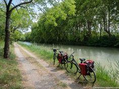 Canal du Midi by bike itinerary and practical information Toulouse, Landscape Photos, Landscape Photography, Travel Photography, Rando Velo, Canal Du Midi, Destination Voyage, France Travel, Mountain Biking