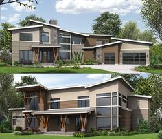 Architectural Designs Modern House Plan 23627JD. 4 to 5 beds with master on main and 2-story great room. Just under 4,000 square feet. Ready when you are. Where do YOU want to build? #23627JD #adhouseplans #architecturaldesigns #houseplan #architecture #newhome  #newconstruction #newhouse #homedesign #dreamhome #dreamhouse #homeplan  #architecture #architect #modern