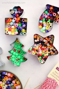 Melted Pearler Bead Ornament tutorial.  SO CUTE!