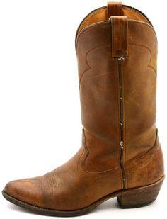 Santa Fe Boot Co. Mens Cowboy boots size 9 D Brown Leather Work  #SantaFe #CowboyWestern @ebay