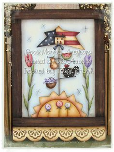 EPattern  Good Morning Americana by PaintingwithDeb on Etsy