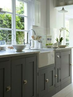 50 shades of stunning gray kitchens: http://www.stylemepretty.com/collection/2748/