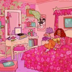 People Illustration, Digital Illustration, Vintage Disney Art, Victoria Secret Wallpaper, Bedroom Drawing, Trash Art, African American Artist, Indie Art, Arte Sketchbook