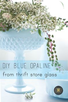 DIY Blue Opaline Glass - Homeology Modern Vintage