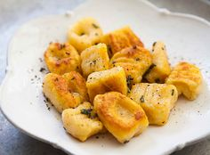 Italian pumpkin gnocchi dumplings! Made with pumpkin or winter squash, ricotta cheese, parmesan and flour.