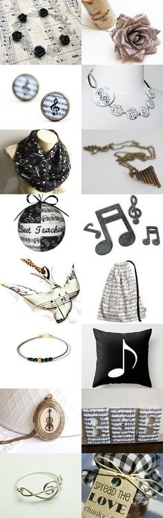 Music notes by Asta Kundelyte on Etsy--Pinned with TreasuryPin.com