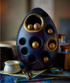 The new hand-painted and hand-finished giant cosmic egg