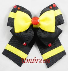 Umbreon Hair Bow  Pokemon  by SketchyStudios on Etsy