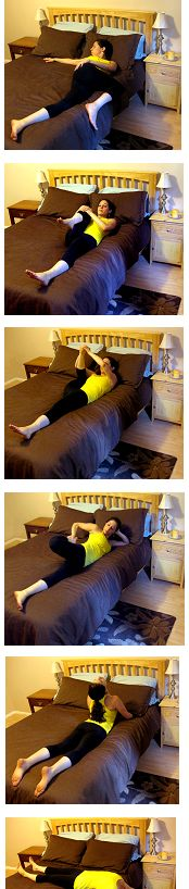 Bed Stretches..maybe help for waking up in the morning? #HipFlexorsStretches