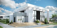 homify is an online platform for architecture, interior design, building and decoration. homify offers everything the end user requires, from the planning stage, up to the delivery of the keys to your dream home. Modern Exterior House Designs, Modern House Facades, Villa Design, Facade House, Residential Architecture, Home Fashion, Custom Homes, House Plans, Pergola