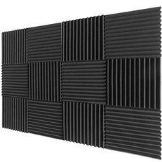 12 Pack Acoustic Foam Wedge Panels Studio Soundproofing Wall Tiles X X… Home Studio, Recording Studio Home, Studio Soundproofing, Studio Foam, Acoustic Wall Panels, Drum Room, Foam Panels, Tuile, Audio Room
