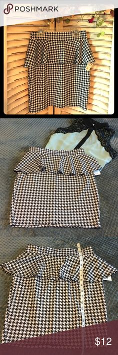 NWT Black & White Checkered Pencil Skirt NEW WITH TAGS Black & White Checkered Pencil Skirt by Sensational Collection. Tag reads size medium, however this skirt fits like a size small. Ideal for women's or juniors size 4. BUNDLE & SAVE Sensational Collection Skirts