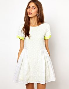 lace and neon / dress by Lashes of London
