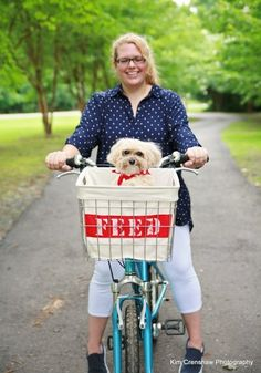 I need a bike with a basket that Watson can ride in! :)