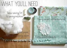 How to Make a Simple Draft Excluder  This will be my first sewing machine project.