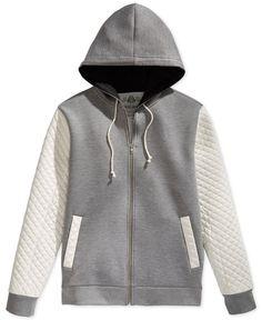 American Rag Neoprene Quilted Sweatshirt