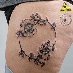 Monika Paskud (@kropkadesign) • Instagram Flower tattoo done on leg.  #poland #wroclaw #tatuażkwiaty #paskudtattoo #tatuażnanodze