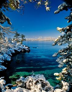 Lake Tahoe is one of the most visited destinations in the world with a the large lake of freshwater, located in the Sierra Nevada, USA.