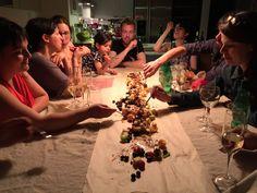 ... à un dîner en famille/entre amis...